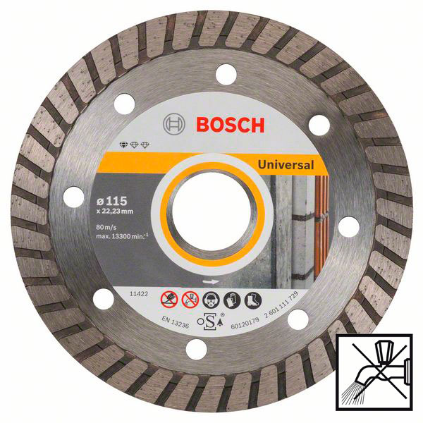 Круг алмазный Bosch, Standard for Universal Turbo, 115 мм